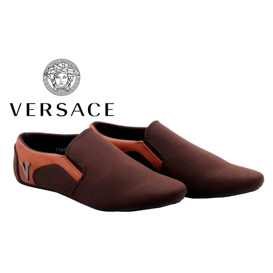 Versace Men Stylish Loafer Shoes V5