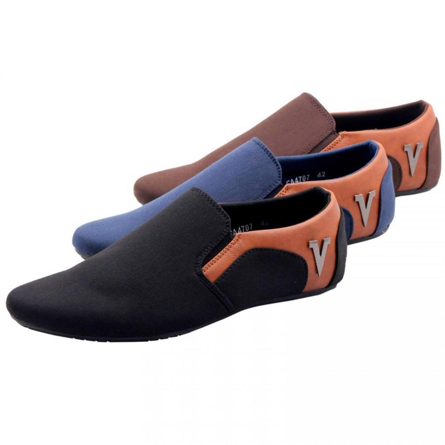 Versace Men Stylish Loafer Shoes V5