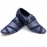 Zara Blue Stylish Design Loafers Z8