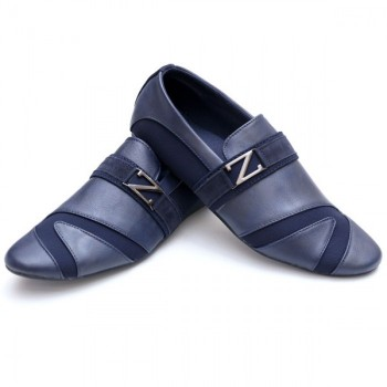 Zara Blue Stylish Design Loafers Z8