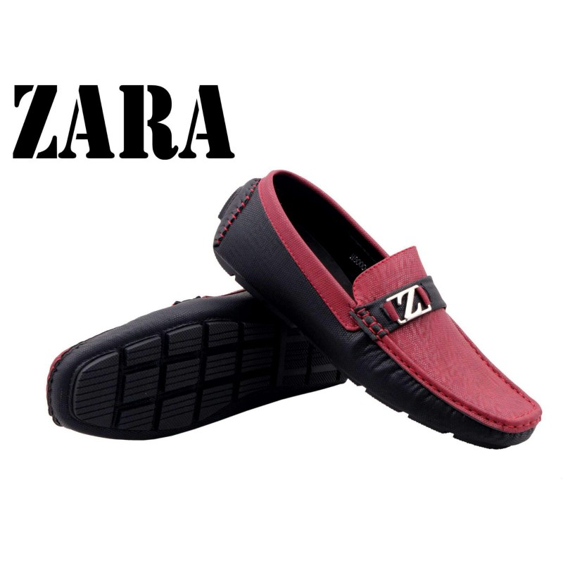 Men S Footwear Zara Men Red And Black Logo Shoes Z14