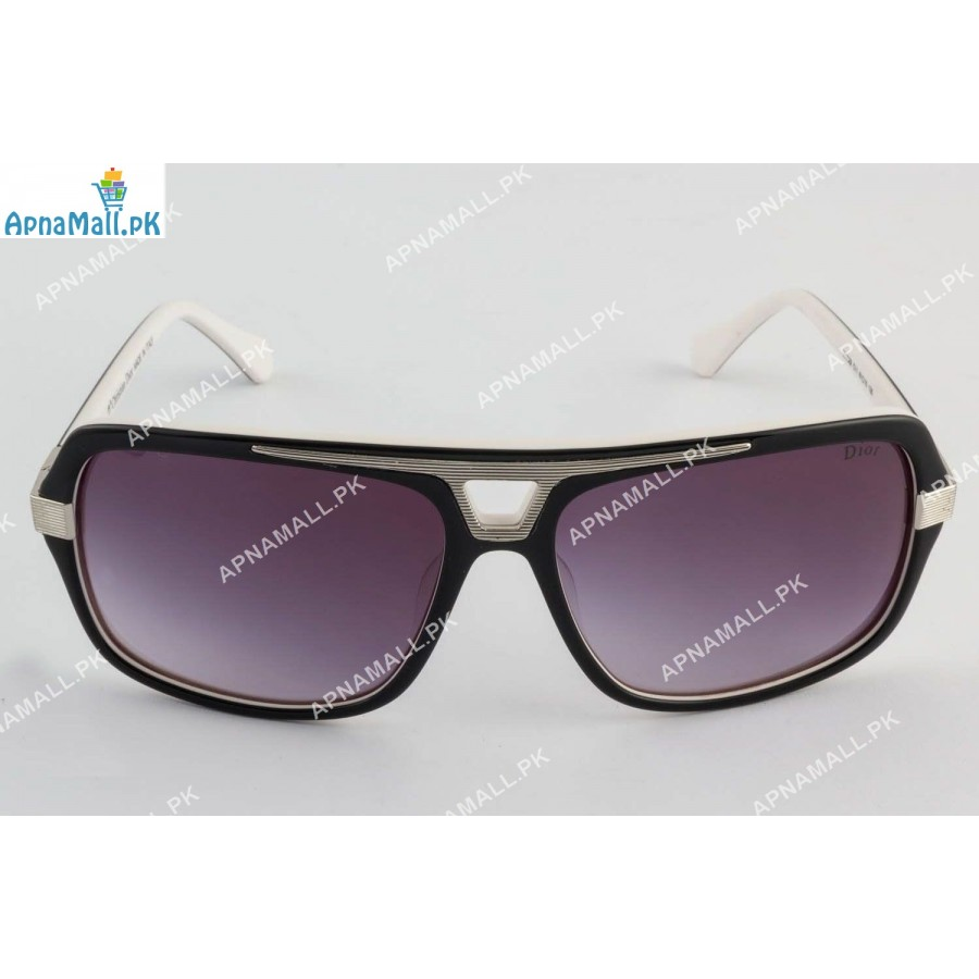 Christian Dior Silver Black Sunglasses