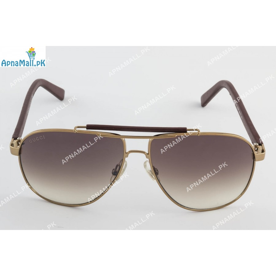 Gucci Golden Brown Aviator