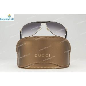 Gucci Silver Black Aviator