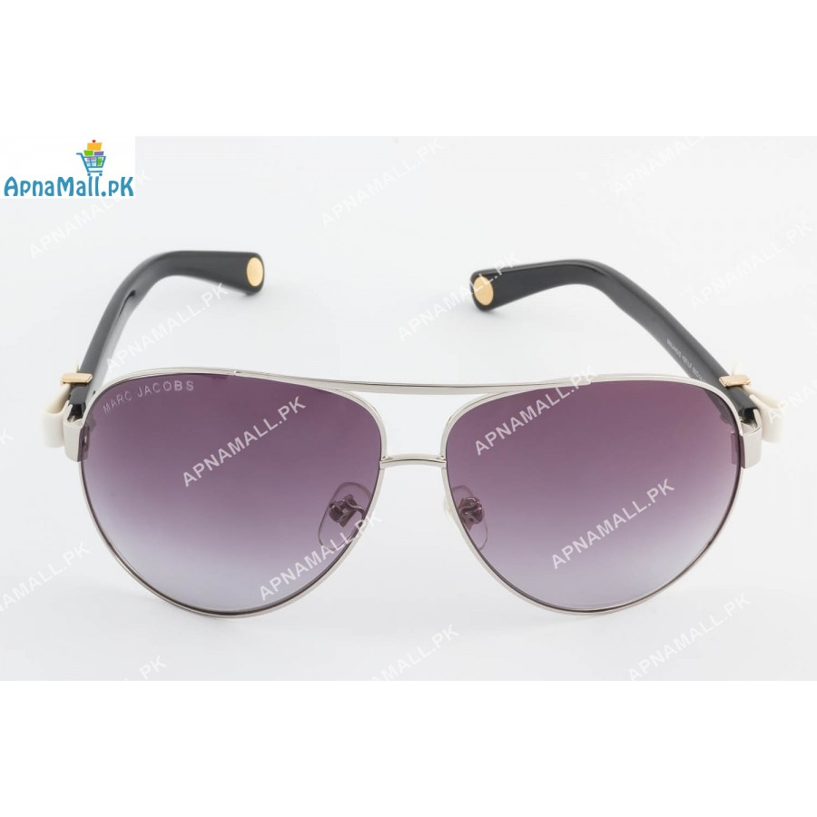 Marc Jacobs Silver Black Aviator