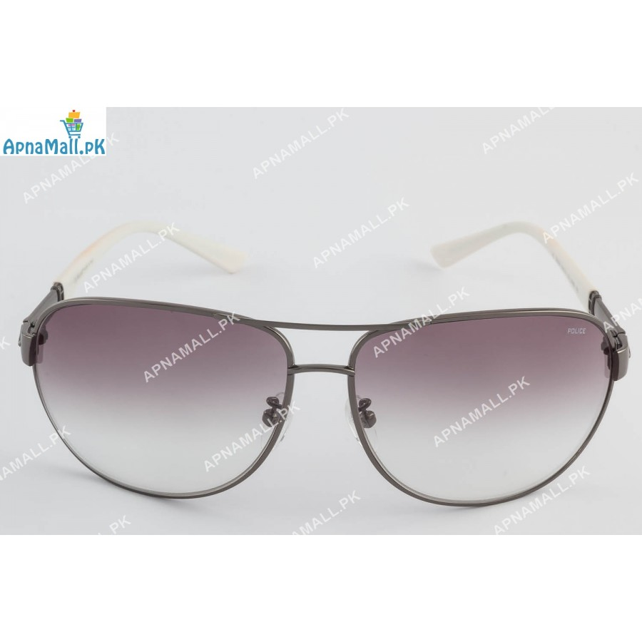 Police Metal Grey Aviator
