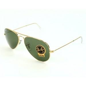 Rayban Aviator Golden Green