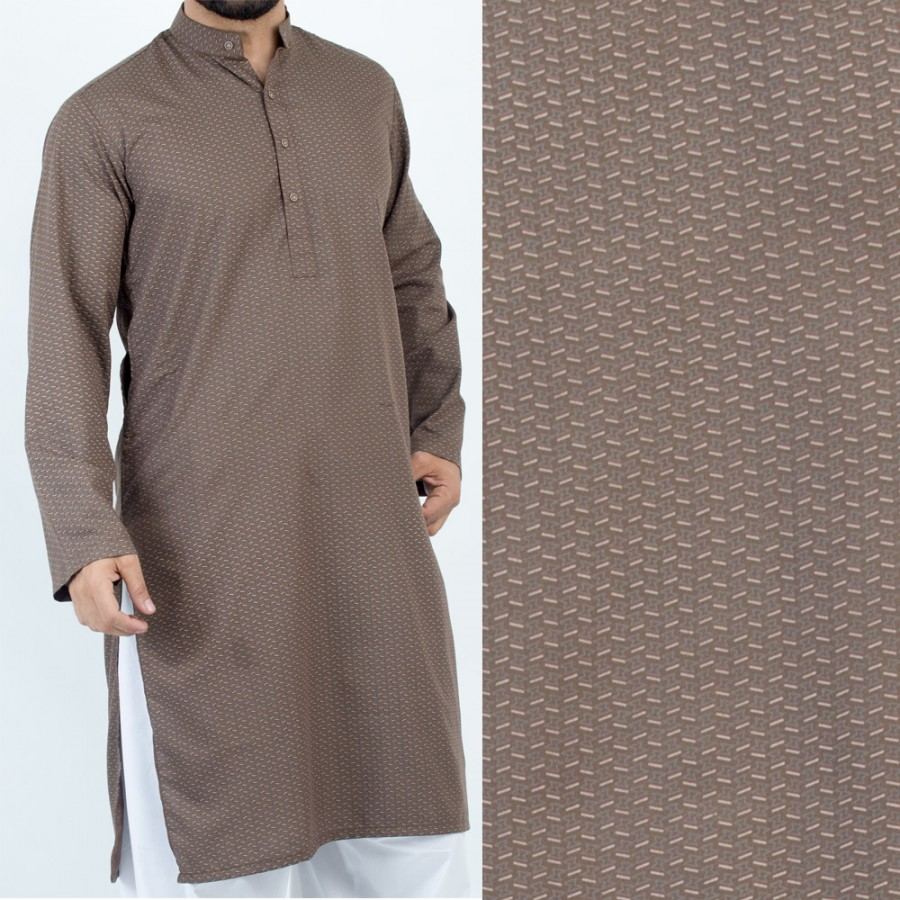 Brown Stylish Printed Kurta For Men - Design 2