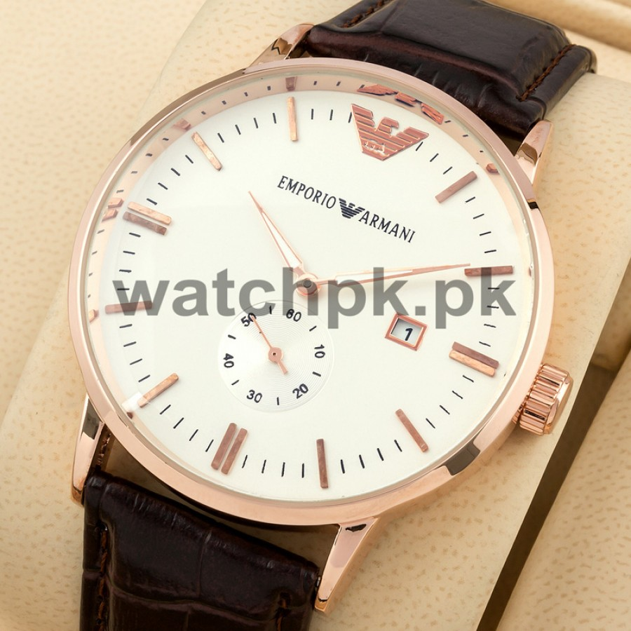 Emporio Armani Date Just Classic Thinline - Gold