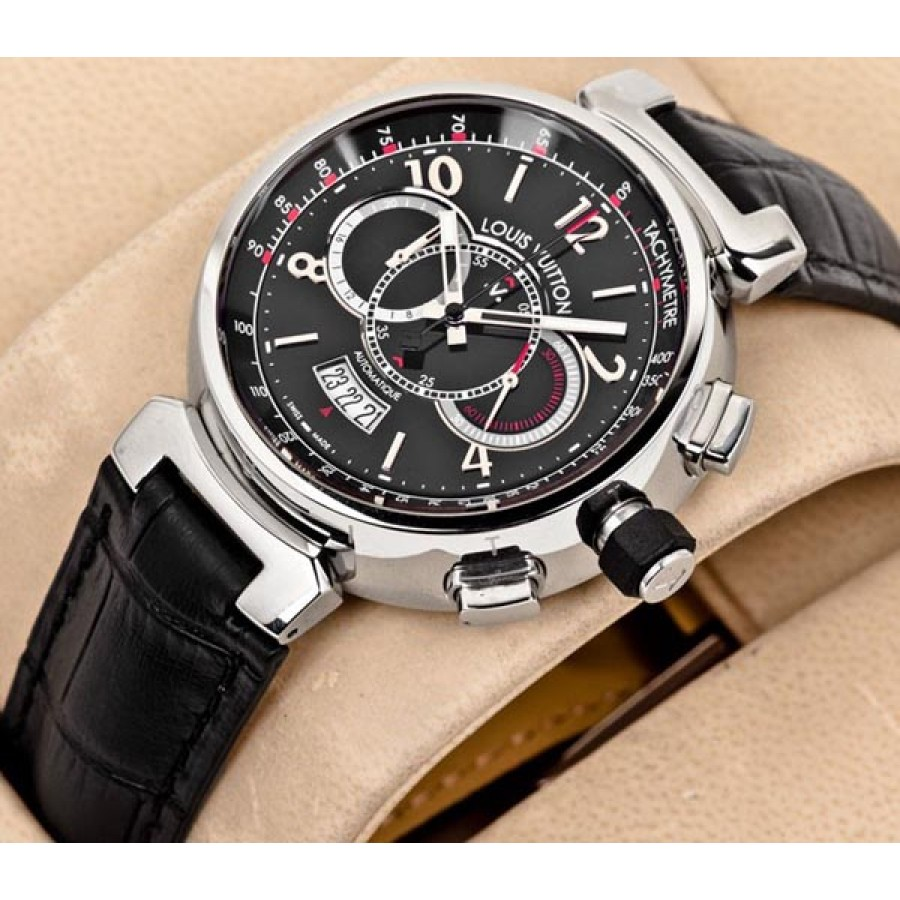 Louis Vuitton Tambour Chronograph Black