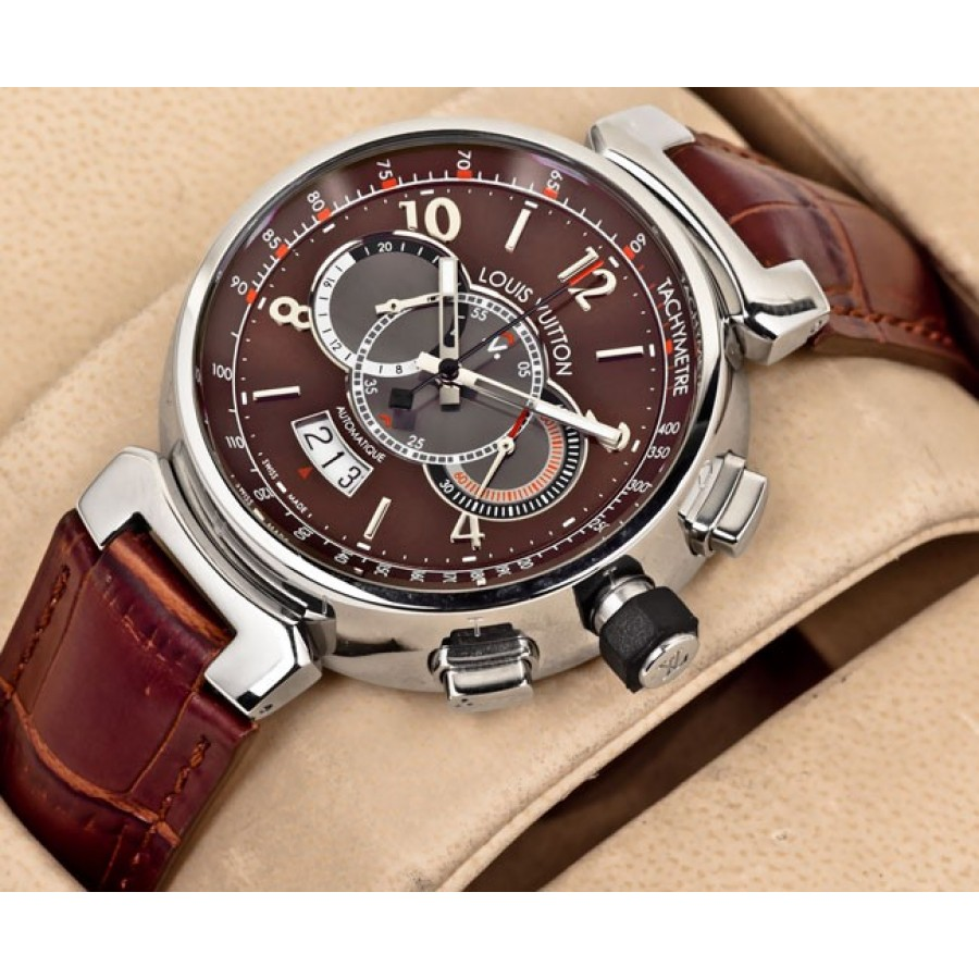 Louis Vuitton Tambour Chronograph Brown
