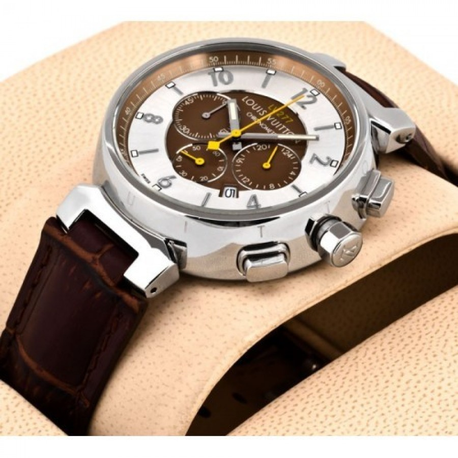 Louis Vuitton Tambour Chronograph White Dial