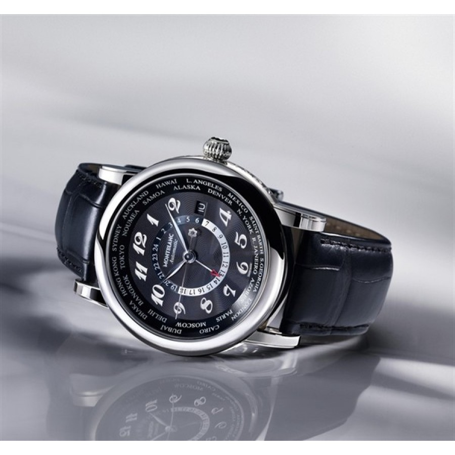 MONTBLANC STAR WORLD-TIME GMT AUTOMATIC BLACK