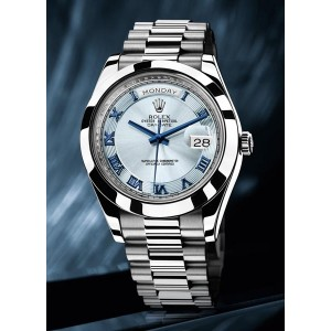 Rolex Day-Date II Exclusive Sliver Blue