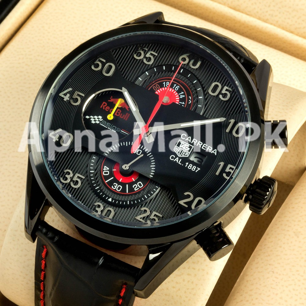watches for men tag heuer carrera calibre 1887 red bull. Black Bedroom Furniture Sets. Home Design Ideas