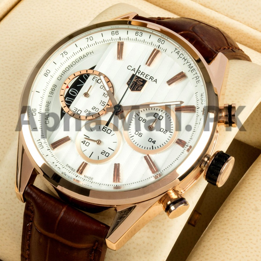 Tag Heuer 1969 Chronograph White Rose