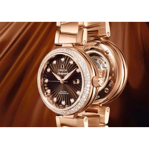Omega Ladymatic Brown