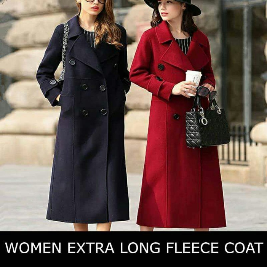 Womens Extra Long Fleece Coat