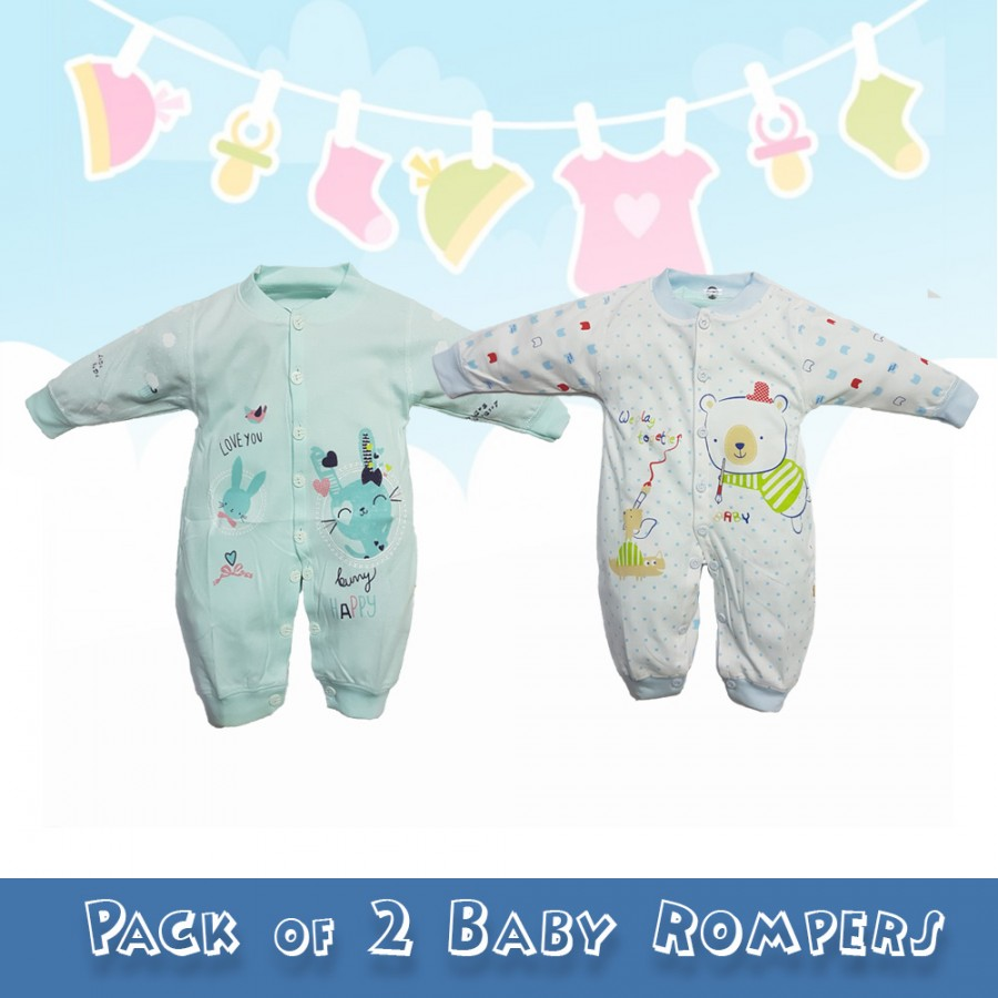 Pack of 2 Baby Rompers