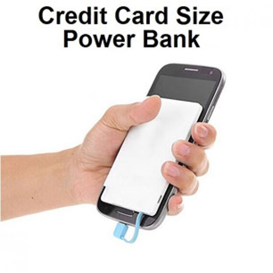 Card size power bank iphone and android