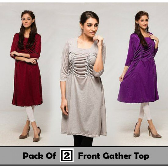 Pack Of 2 Front Gather Top