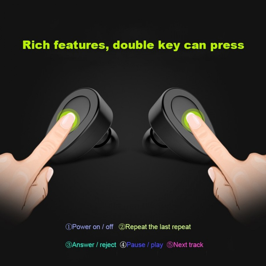 Twin Wireless Bluetooth Stereo Headsets/Headphones with Mic