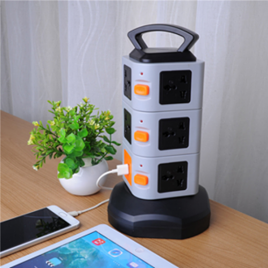 Rondaful Electrical Plugs Sockets Power Plug 2 USB+11 Outlet Standard Wall Socket Extension Cable Cord Plugs