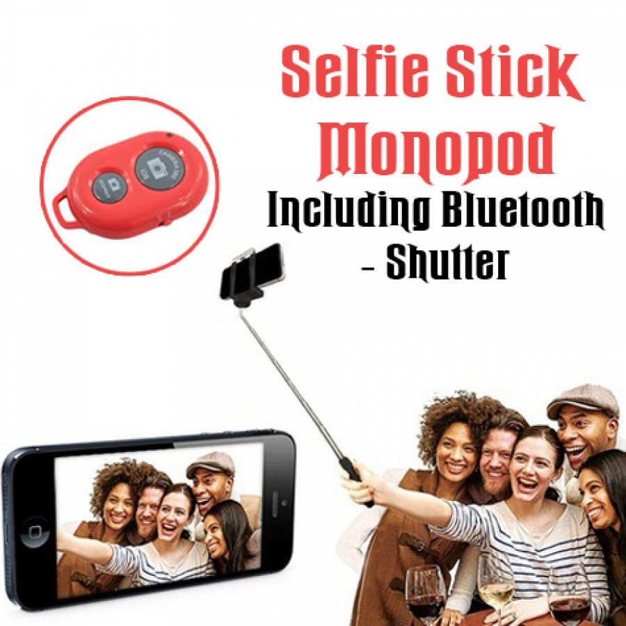 1 Selfie Stick Monopod With Bluetooth Shutter