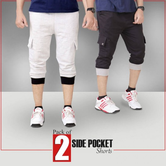 PACK OF 2 Side Pocket Short