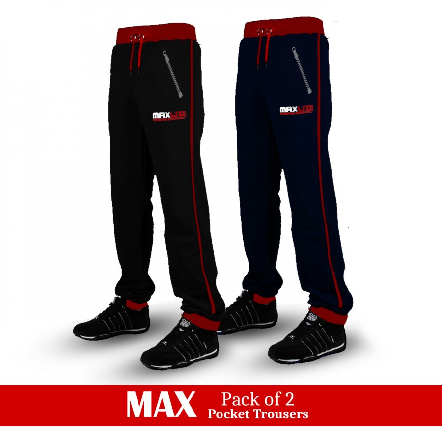 Pack of 2 Max Pocket Trousers