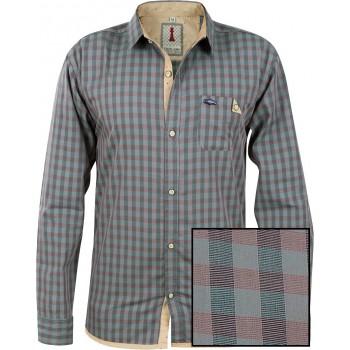 Sapphire Check Smart Casual Shirt Design 1