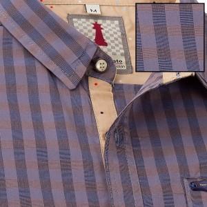 Iris Check Smart Casual Shirt Design 1