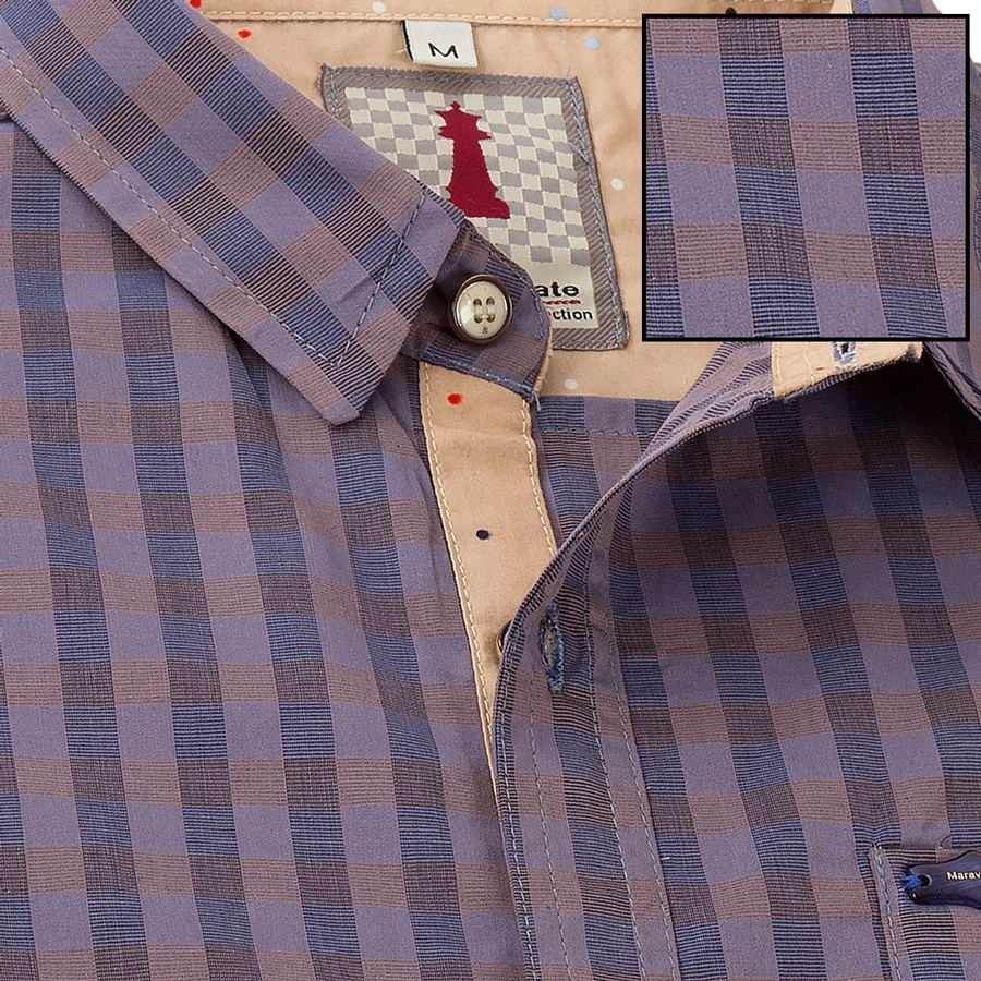 Iris Check Smart Casual Shirt Design 1