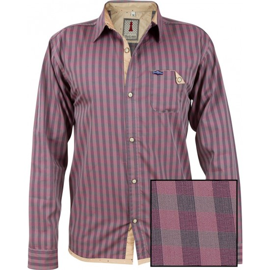 Rouge Check Smart Casual Shirt Design 1