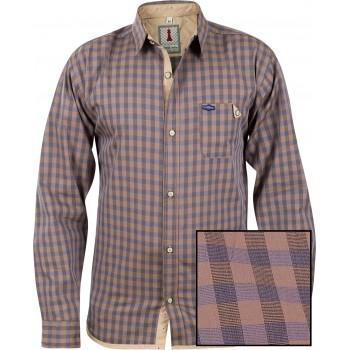 Sand Check Smart Casual Shirt Design 1