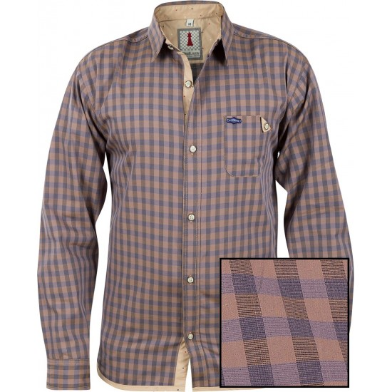 Sand Check Smart Casual Shirt Design 1