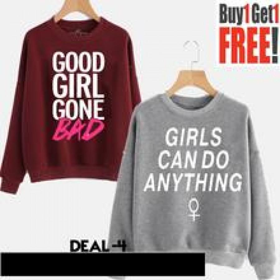 Buy 1 Get 1 Free Printed Sweat Shirts
