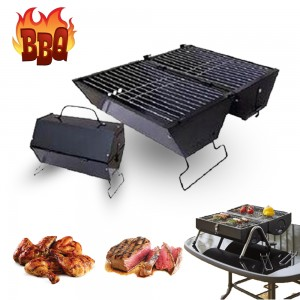 DOUBLE SIDED FOLDABLE BBQ GRILL