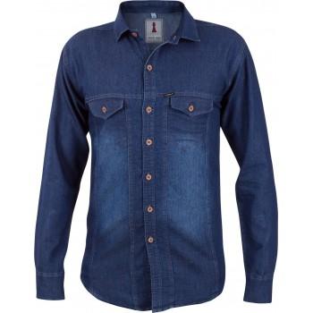 Deep Blue Denim Smart Casual Shirt Design 2