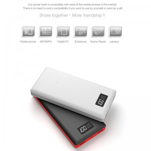 External Battery With LED Dual USB Charging 15000mAh Portable Mobile Power Bank Battery Charger with Built-in Li-Polymer Battery