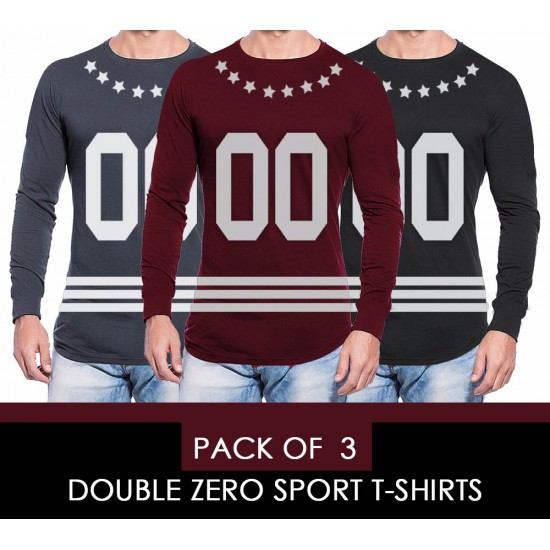 PACK OF 3 DOUBLE ZERO SPORT T-SHIRT