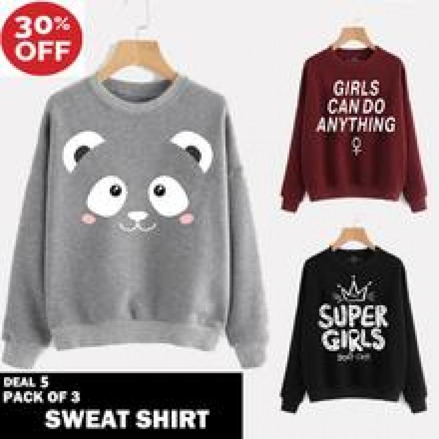 Buy 2 Get 1 Free Printed Sweat Shirts