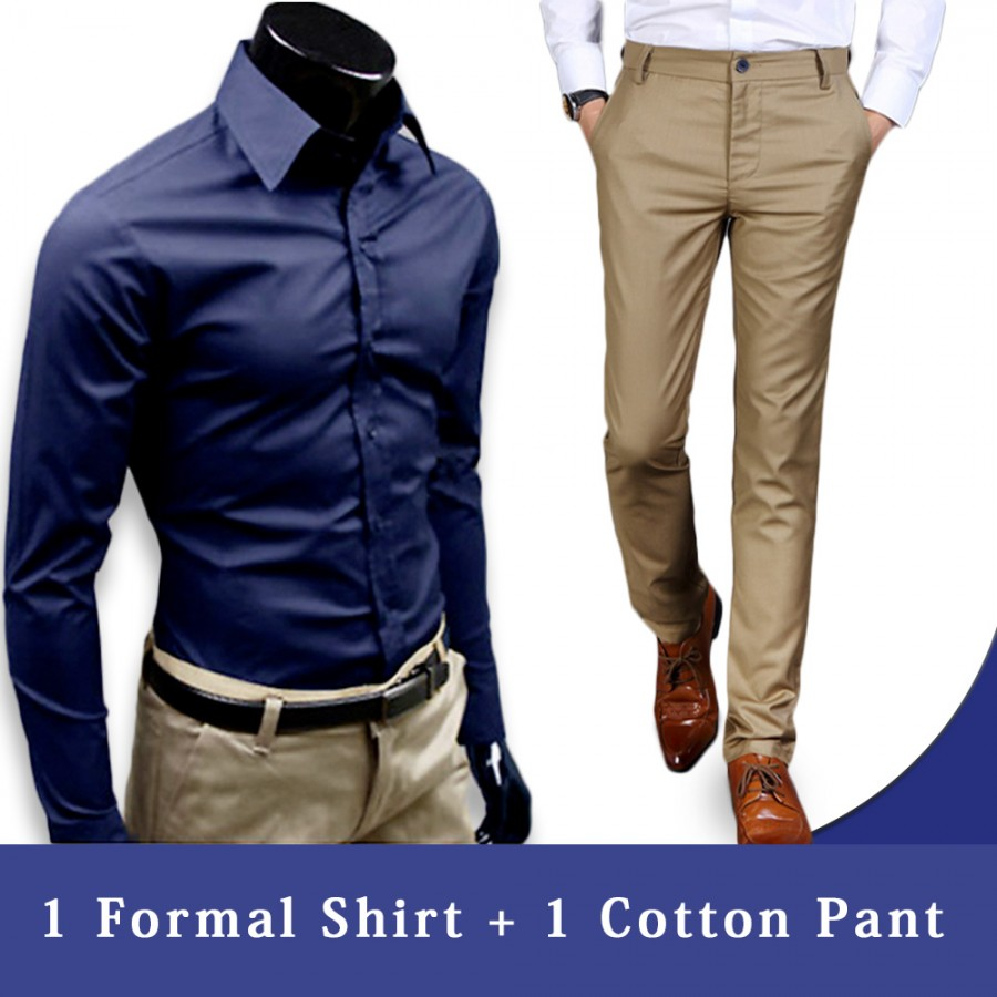 1 Cotton pant + 1 Formal Shirt
