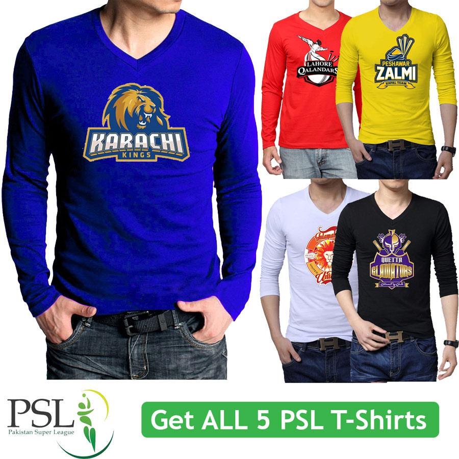 Get all 5 PSL T-Shirts