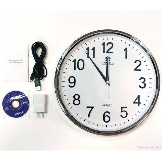 Wifi Spy Wall clock Wireless Hidden HD Video Recording Camera