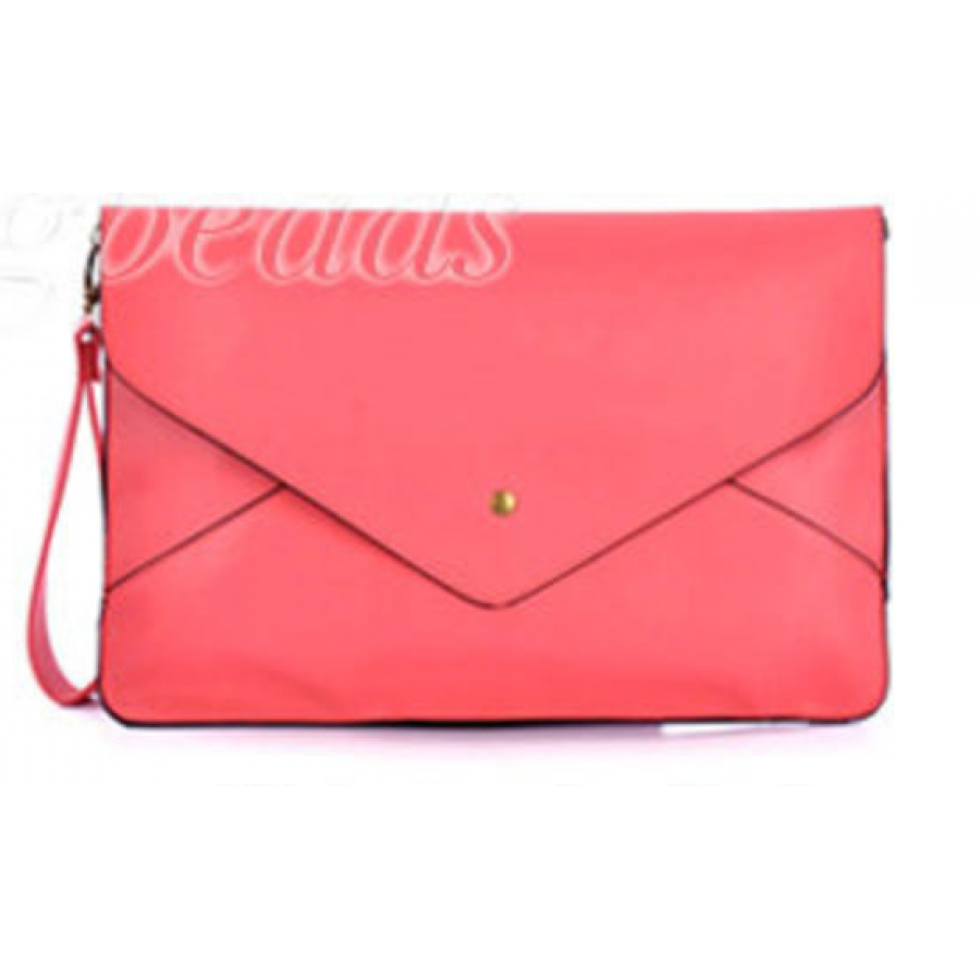 Envelope Clutch Chain Purse Pink