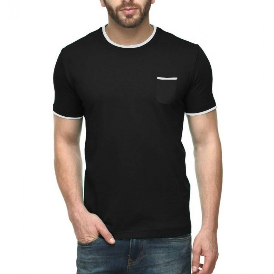 Pack of 3 Contrast Neck T-Shirts