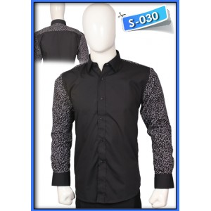 S&J Black Shirt with white Flowers