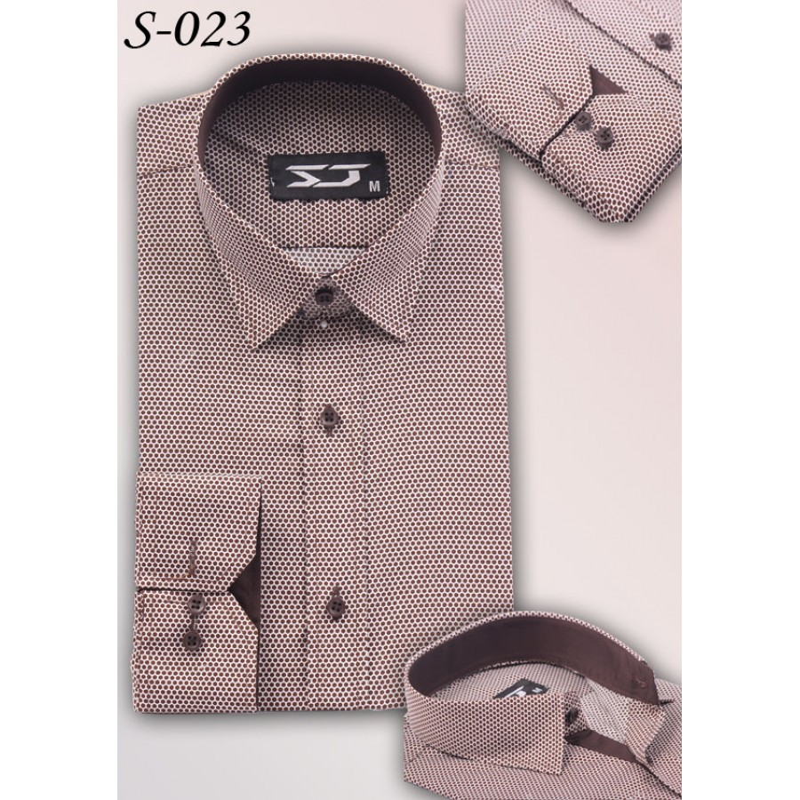 S&J Brown Dots Shirt