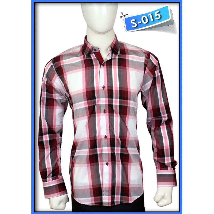 S&J Brown/white Check Shirt